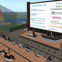 Vortrag in der virtuellen Welt Secondlife ber Open Innovation